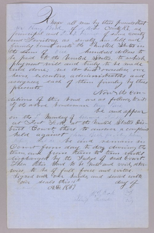 United States versus Henry Beck for taking Indian property - Page