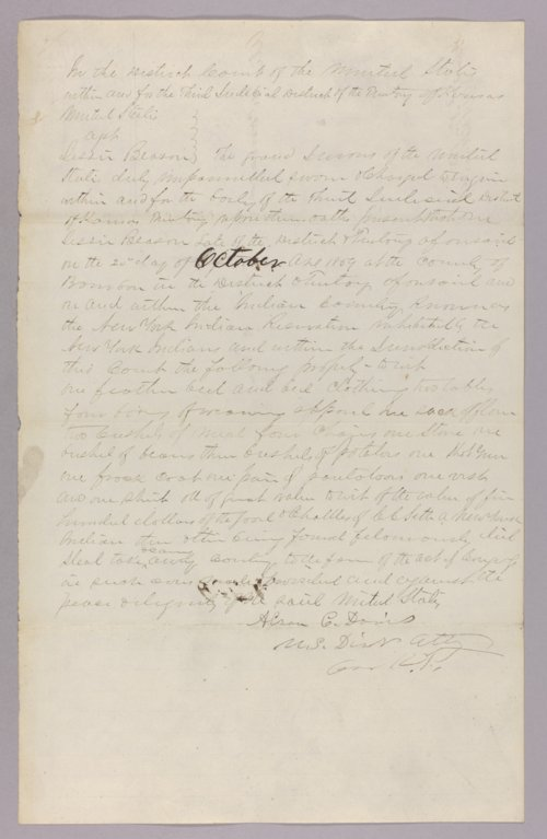 United States versus Jesse H. Beeson for larceny of Indian property - Page