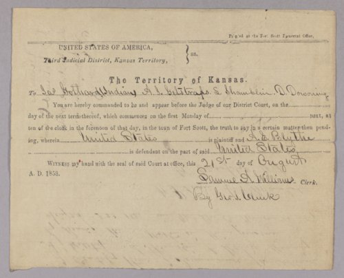 United States versus A. E. Blythe for horse stealing - Page