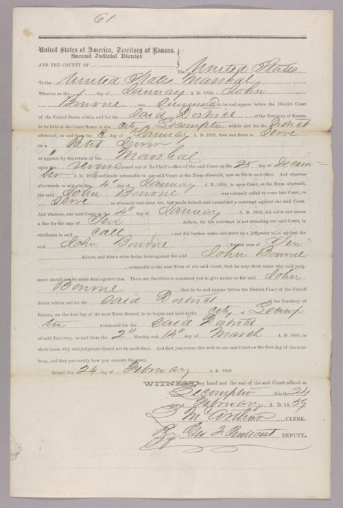 United States versus John Bourne for contempt - Page