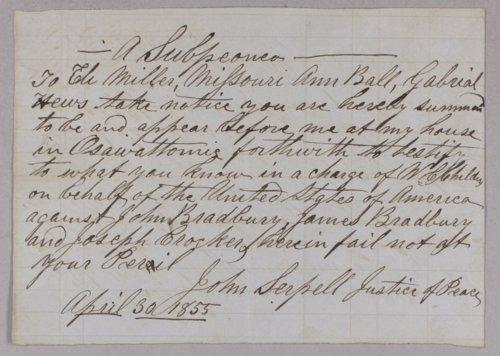 United States versus James Bradbury, John Bradbury, and Joseph Crocker for stealing hogs - Page