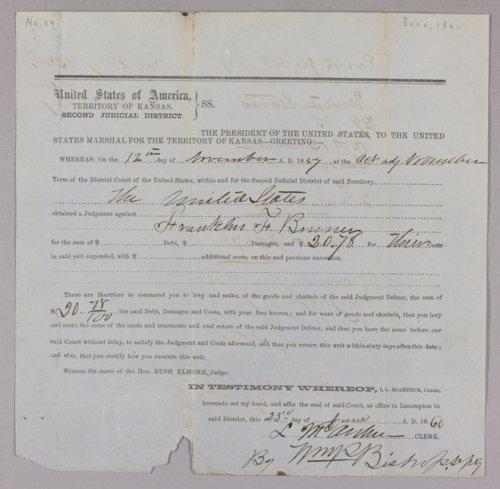 United States versus Franklin F. Bruner for contempt - Page