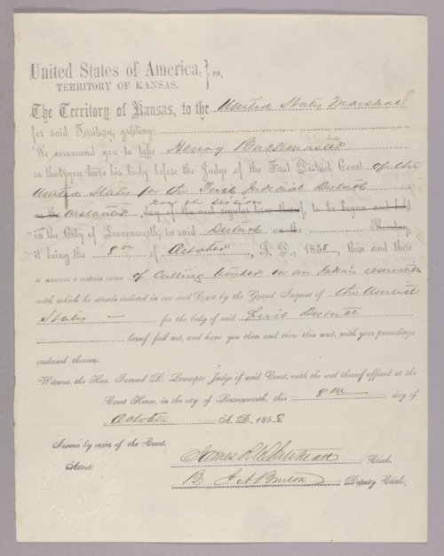 United States versus Henry Buckmaster for taking Indian property - Page
