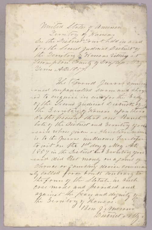 Kansas Territory versus Bunch for gambling - Page