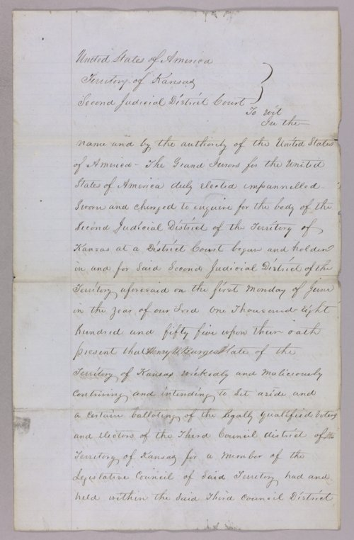 United States versus Henry Burges for perjury - Page