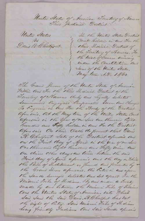 United States versus David R. Chalfont for taking Indian property - Page