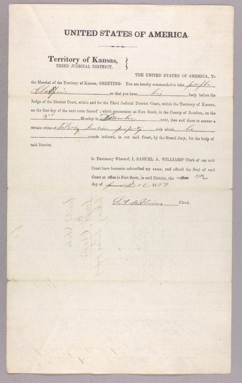 United States versus Joseph Chafin for taking Indian property - Page