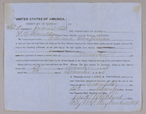 United States versus E. Chapman for surety to keep the peace - Page