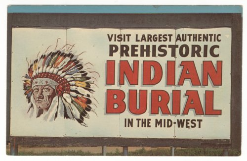 Roadside sign for the Indian Burial Pit near Salina, Kansas - Page