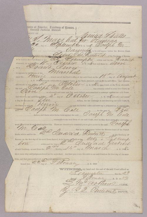 United States versus Joseph M. Cole for contempt - Page