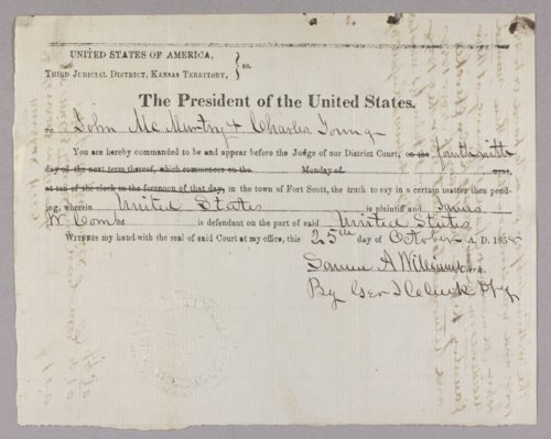 United States versus James Combs for the murder of Ambrose Holt - Page