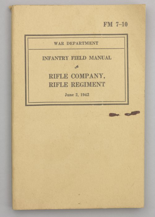 Infantry Field Manual: Rifle Company, Rifle Regiment - Page