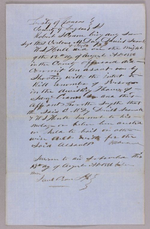 Kansas Territory versus Carloss M. Day and others for assault with intent to kill - Page