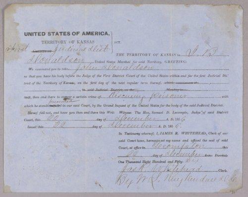 Kansas Territory versus John Donaldson for rescuing a prisoner - Page