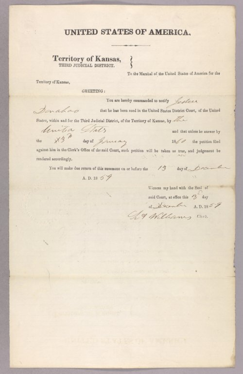 United States versus Jesse Donohoo for settling on Indian land - Page