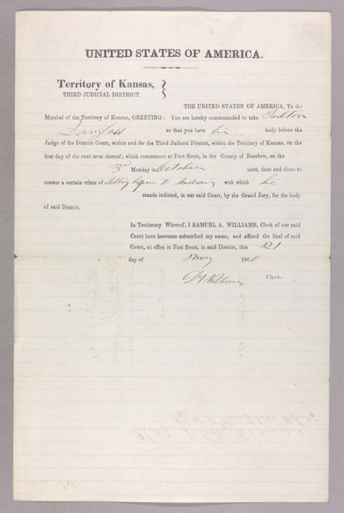 United States versus Tarlton Douglass for selling liquor to the Indians - Page