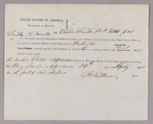 United States versus Henry Dunbar for taking timber off Indian land - Page