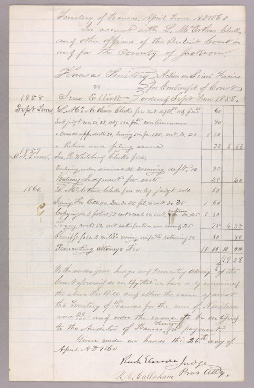 Kansas Territory versus Jessie Elliott for contempt - Page
