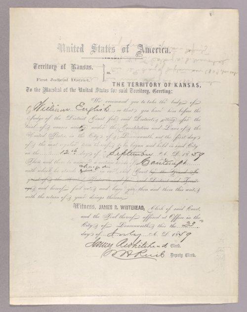 United States versus William English for contempt - Page