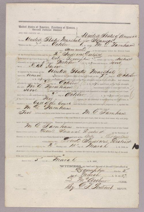 United States versus M. G. Farnham for contempt - Page