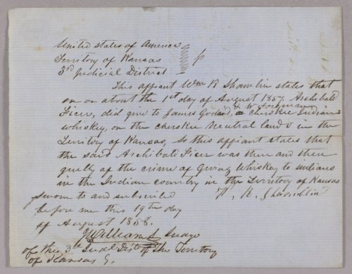 United States versus Archibald Ficer for giving whiskey to Indians - Page