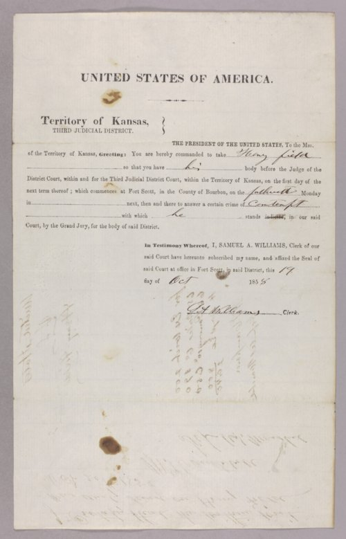 United States versus Henry Fields for contempt - Page