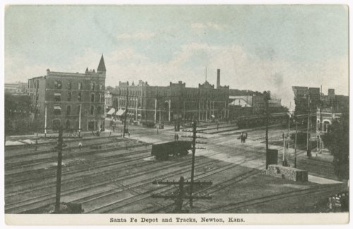 Atchison, Topeka and Santa Fe Railway Company depot and tracks, Newton, Kansas - Page