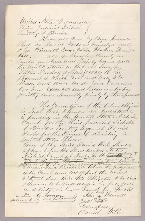 Kansas Territory versus David Forbs for resisting a U S officer - Page