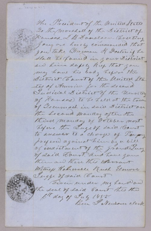 United States versus Freeman R. Foster for usurpation of office - Page