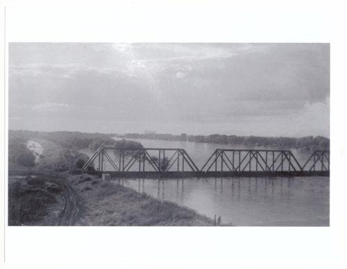Rock Island bridge during the 1951 flood in Topeka, Kansas - Page