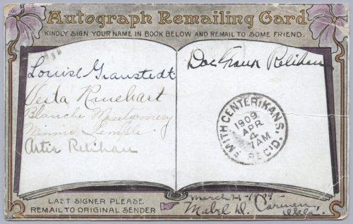 Autograph postcard - Page