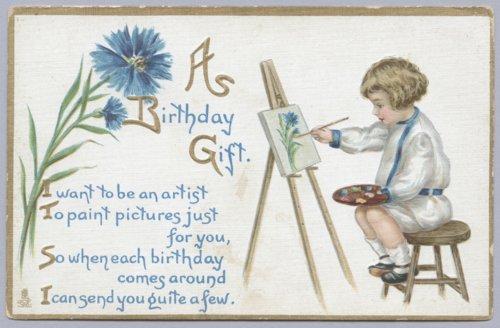 Birthday postcard - Page