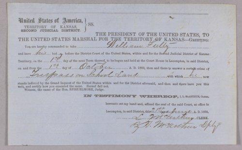 United States versus William Fultz for trespass on school lands - Page