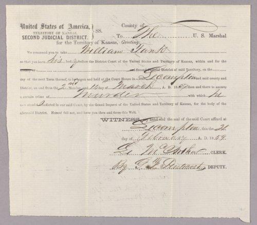 Kansas Territory versus William Funk for murder - Page