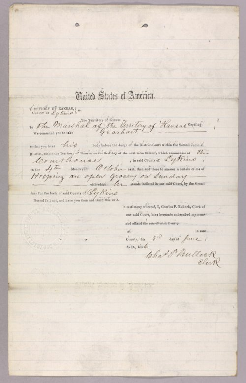 United States versus Gearhart for selling liquor without a license - Page