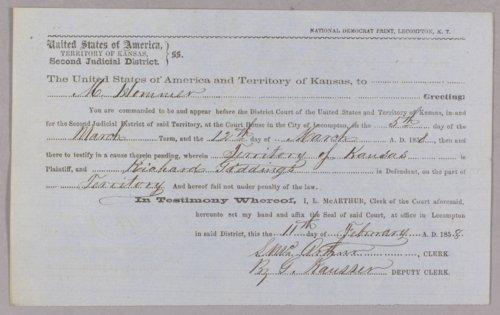 Kansas Territory versus Richard Giddings for robbery - Page