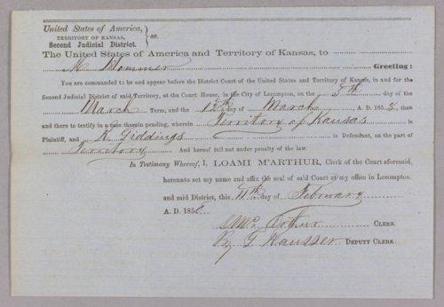 Kansas Territory versus Richard Giddings for burglary - Page