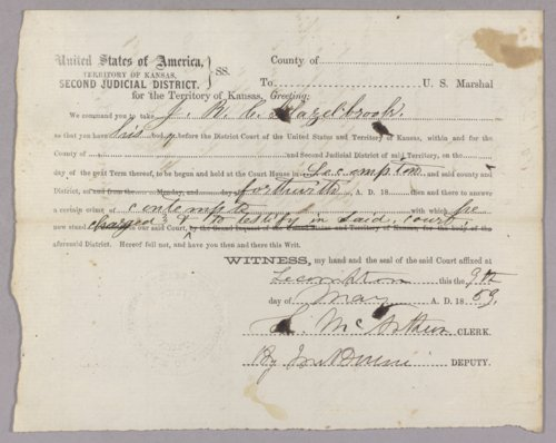 United States versus I. R. C. Glazelbrook for contempt - Page