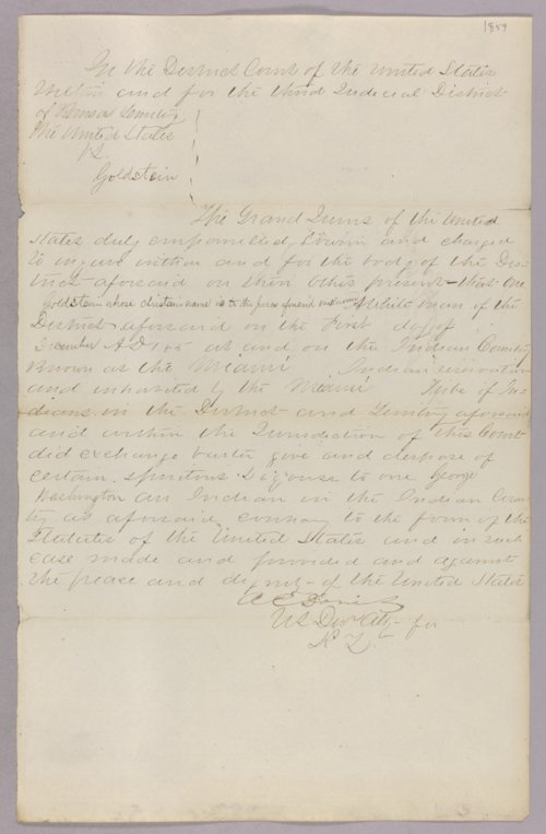 United States versus Goldstein for selling liquor to Indians - Page