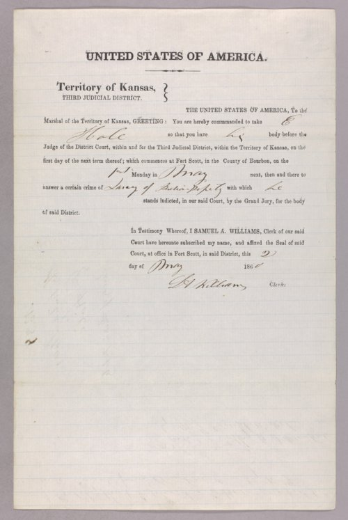 United States versus E. Hale for larceny of Indian property - Page