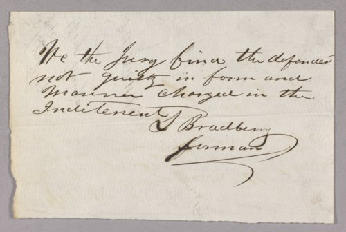 Kansas Territory versus George Haug for selling liquor without a license - Page