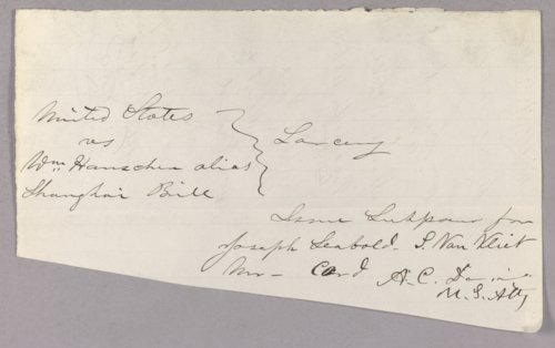 United States versus William Hanschen for horse larceny from Fort Leavenworth - Page