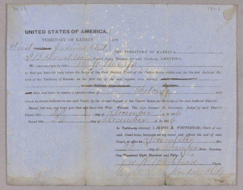 Kansas Territory versus Bill Harris for felony - Page