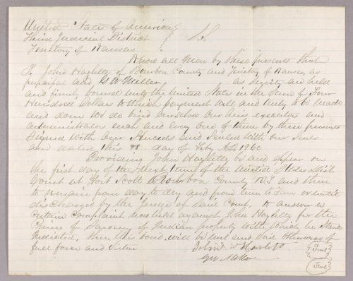 Kansas Territory versus John Haslett for larceny of Indian property - Page