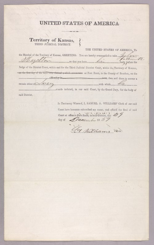 United States versus John Hazelton for larceny on Indian property - Page