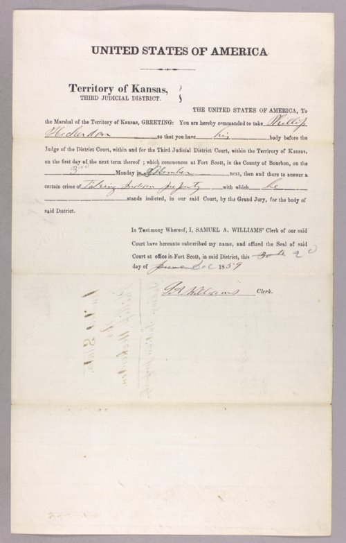 United States versus Philip Heckerdon for taking Indian property - Page