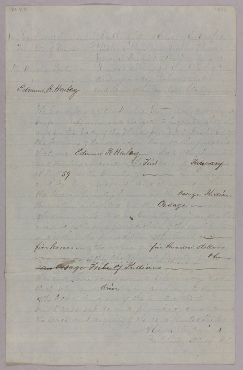 United States versus Edward R. Henley for taking Indian property - Page