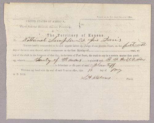 Kansas Territory versus B. F. Hill for gambling - Page