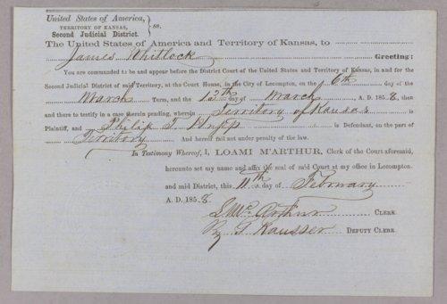Kansas Territory versus Philip T. Hupp for malicious mischief - Page