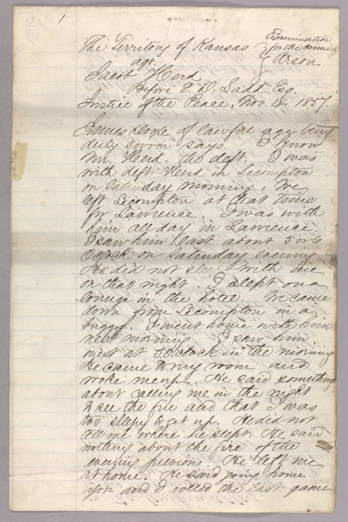 Kansas Territory versus Jacob Hurd for arson - Page